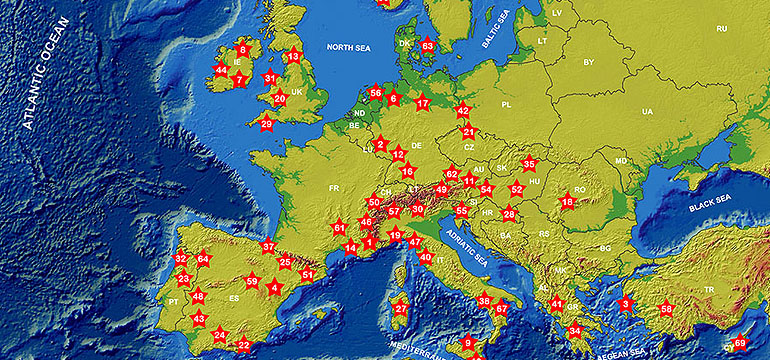 European UNESCO Global Geoparks