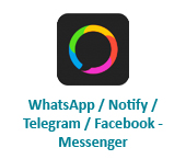 WhatsApp / Notify / Telegram / Facebook - Messenger
